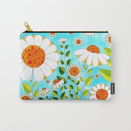 Flower#5 - Wild Daisies Carry-All Pouch