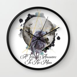 A Witch Answers To No Man Wall Clock