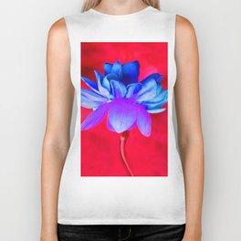Blue Flower Biker Tank