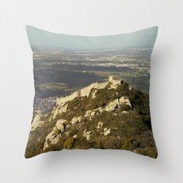 Moorish Castle at Sintra, 2 Throw Pillow