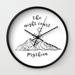 the night court II Wall Clock