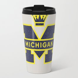 Michigan Block M Retro & Vintage Travel Mug