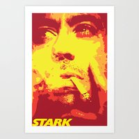stark Art Prints featuring Stark by Logman Vilhelmson