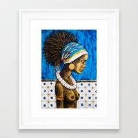 cuba Framed Art Prints featuring CUBA  by Olga Krokhicheva