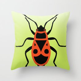 Fire Bug 2 Throw Pillow