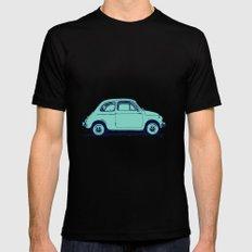 Fiat 500 Mens Fitted Tee Black MEDIUM