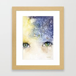 """""""In your face live heaven"""" Framed Art Print"""