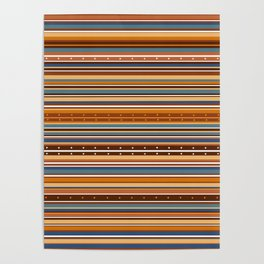 Colorful stripes 4 Poster