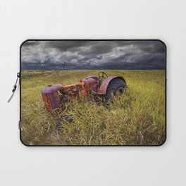 Abandoned Farm Tractor on the Prairie Laptop Sleeve