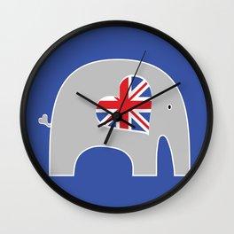 Earl Grey Elephant Wall Clock