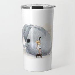 Brushing Elephant Travel Mug