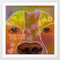 best friend Art Prints featuring Best Friend by Roger Wedegis