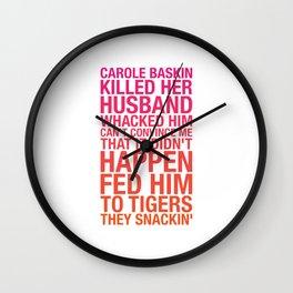 Carole Baskin TikTok Wall Clock