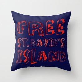 FREE ST. DAVID'S Throw Pillow