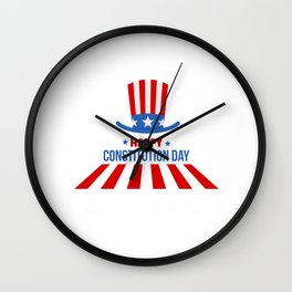 Happy Constitution Day | Gift |  Wall Clock
