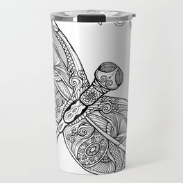 Fly with me through the wind, my dragonfly. Travel Mug