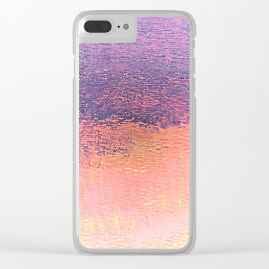 Playing With Pink And Purple Clouds Clear iPhone Case