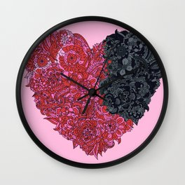 Loves Win (heart) Wall Clock