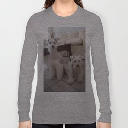 Two white schnauzers Long Sleeve T-shirt