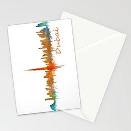Dubai, emirates, City Cityscape Skyline watercolor art v2 Stationery Cards