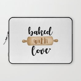 Baked With Love - Rolling Pin Laptop Sleeve
