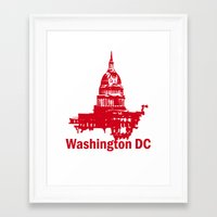 washington dc Framed Art Prints featuring Washington DC  by ialbert
