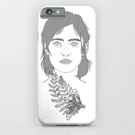 Ellie and Joel illustration TLOU Tattoo the last of us part 2 iPhone Case
