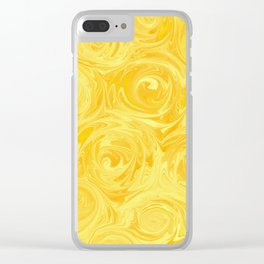 Honey Yellow Roses Abstract Clear iPhone Case