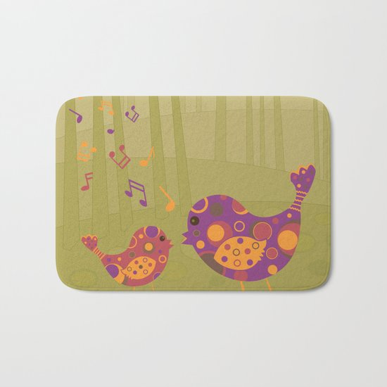 Bird Duet Bath Mat
