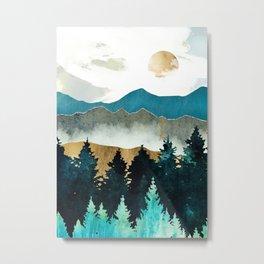 Landscapes Nature Forest Mist Metal Print