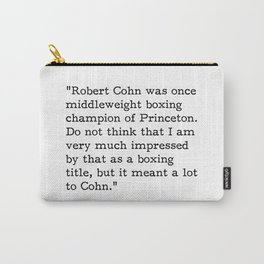 The Sun Also Rises - Robert Cohn Carry-All Pouch