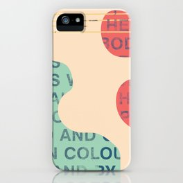 lie cold iPhone Case