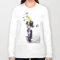 manchester Long Sleeve T-shirts featuring Manchester Street FASHION by Anca Pora
