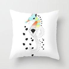 Geoseahorse Throw Pillow