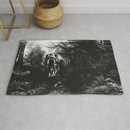 Black and white Jurassic period Rug