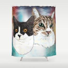 Lily and Sasha Shower Curtain