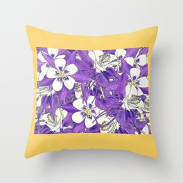 Colorado in Flowers Throw Pillow