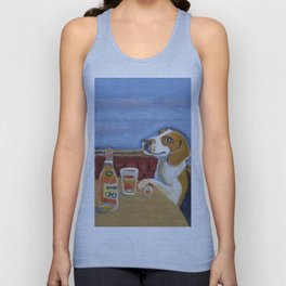 One Beagle, One Scotch, One Beer Unisex Tank Top