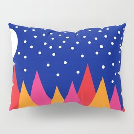 Moonlit Christmas Trees Pillow Sham