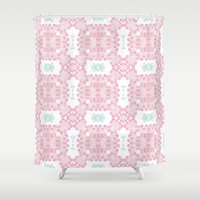 cherry blossoms Shower Curtains featuring Cherry blossoms by Lena Photo Art