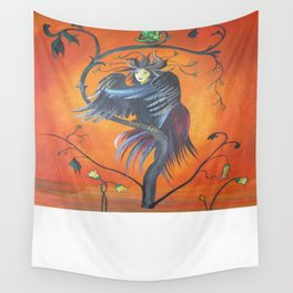 Gamaun The Prophetic Bird With Ruffled Feathers Wall Tapestry
