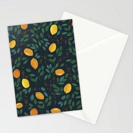 Lemon watercolor vintage pattern Stationery Cards