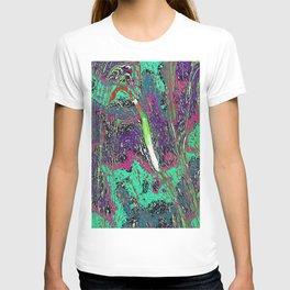 Vibrant Swirls Multicolor Pattern T-shirt