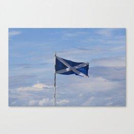 Scottish Flag Canvas Print