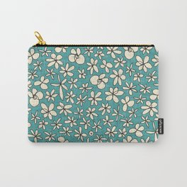 garland flowers blue Carry-All Pouch