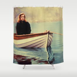 One Breath painting Shower Curtain