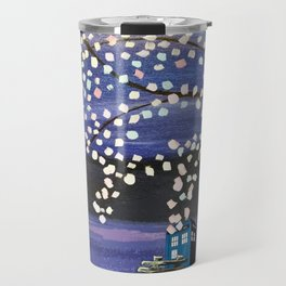 Tardis Art Alone And The Tree Blossom Travel Mug
