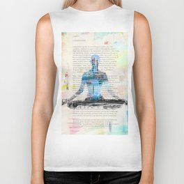 Yoga Book. Lesson 1 Concentration - painting - art print  Biker Tank