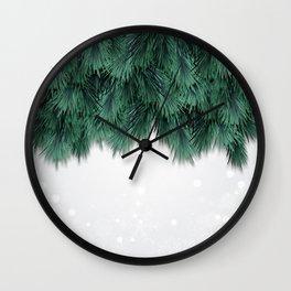 Snow and Tree Wall Clock