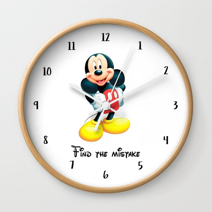 Find the mistake - Mickey Wall Clock by mygig
